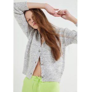 UO Speckled Button-Front Nep Cardigan XS